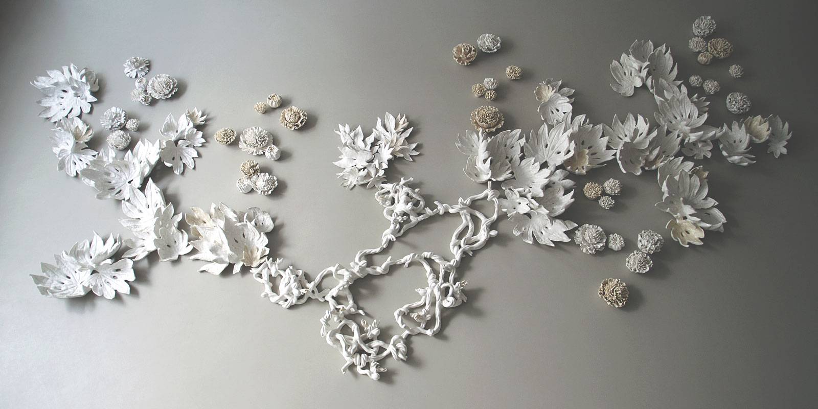 Porcelain Wall Art Installations And Sculptures